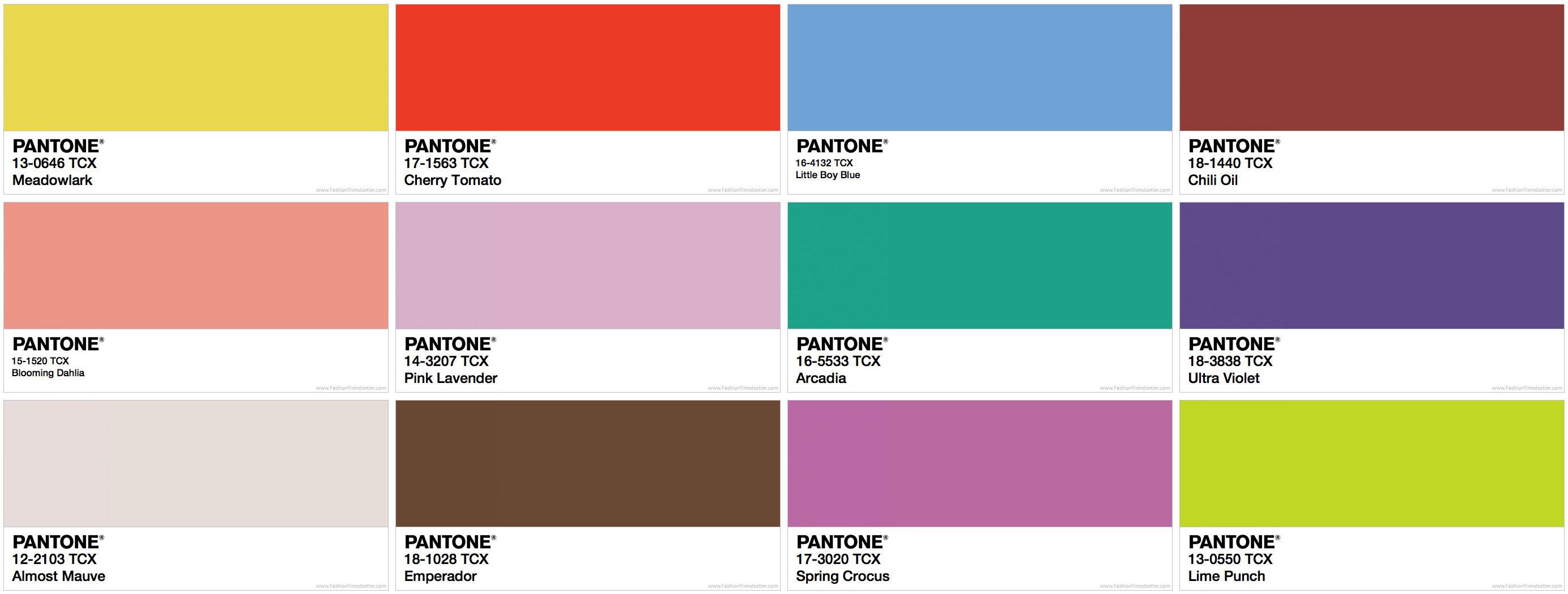 Pantone colori del 2018